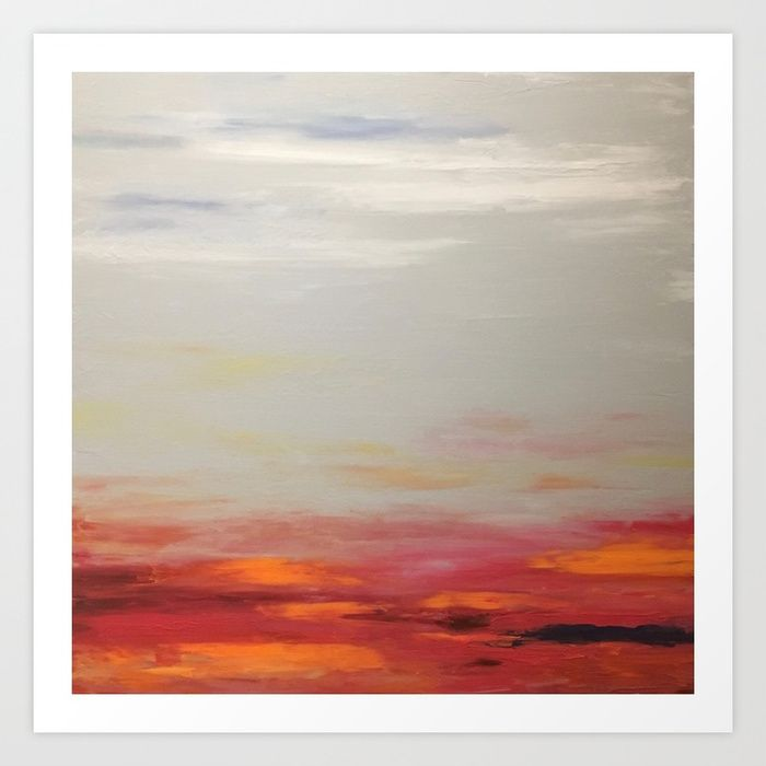 Sunset on Rainy Day Art Print by sophie_lemieux | Society6