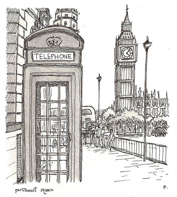 Картинки биг бена в лондоне карандашом, прикольные
