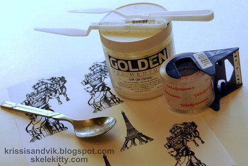 Packing Tape Image Transfer Tutorial. COOL!