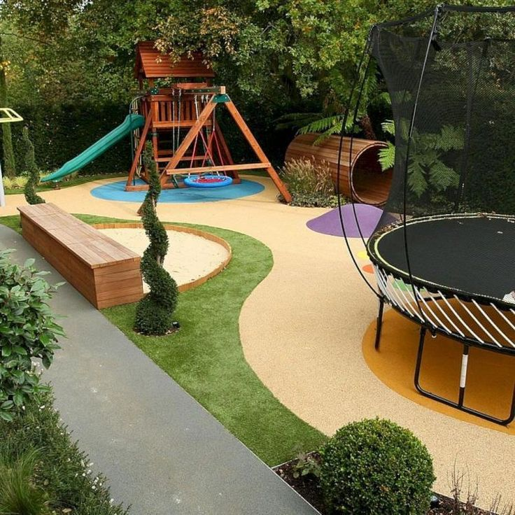 37+ Exciting Small Backyard Playground Landscaping Ideas # ...