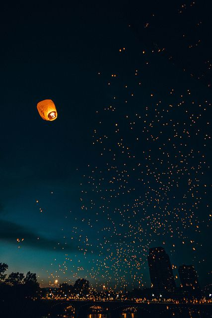 "Lantern Festival in Center City, Grand Rapids, Michigan (""and at last I see the light..."""