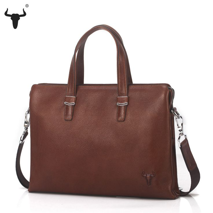 Men's Genuine Cowhide Leather Document Bag - Pick Pay Post