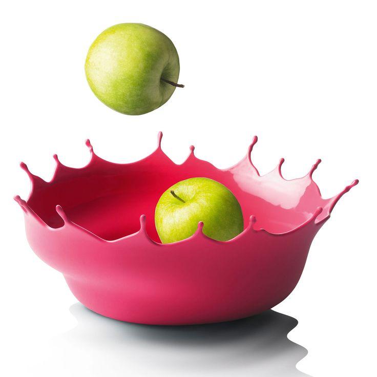 Dropp! silicone bowl (Neo Red) | Designer: Niels Römer | 35.00