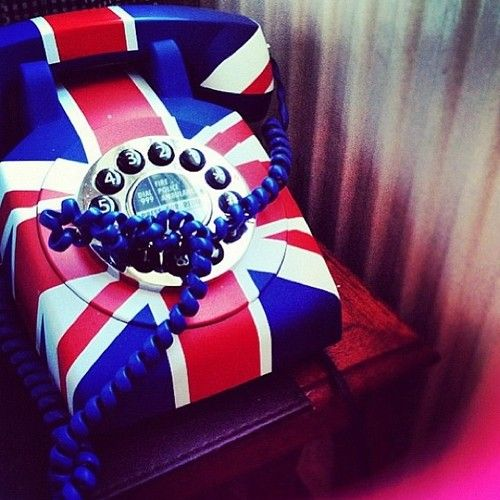 A retro rotary Union Jack telephone - The first number I memorised as a kid was on a rotary phone in Buckinghamshire. Chalfont St Giles 4156!