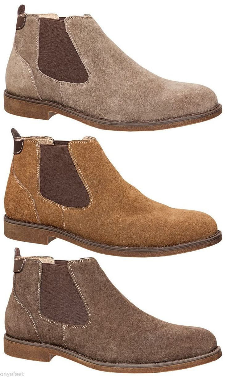 MENS HUSH PUPPIES ADULTS - TURN FORMAL//WORK/CASUAL/ SUEDE SHOES BOOTS MEN'S in Clothing, Shoes, Accessories, Men's Shoes, Boots | eBay