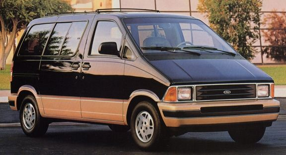Ford Aerostar - mine was tricked out by trailways with special paint, track lighting, etc.  Loved it!