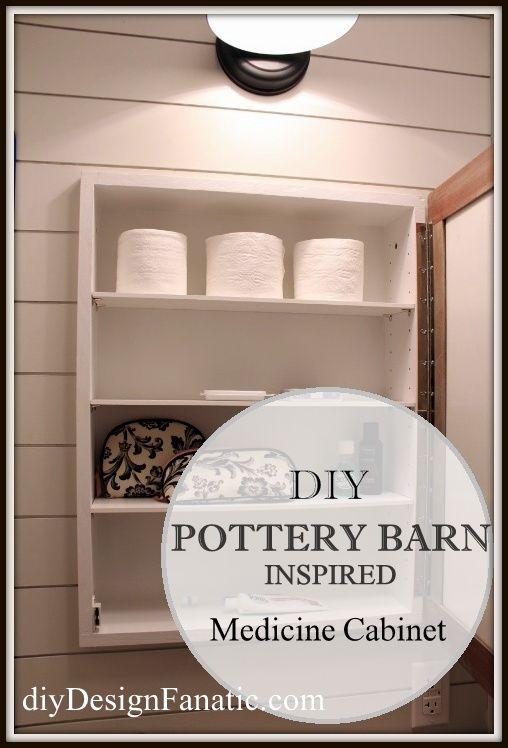diy Design Fanatic: DIY Pottery Barn Inspired Medicine Cabinet - Unusually deep medicine cabinets provide storage for more things.