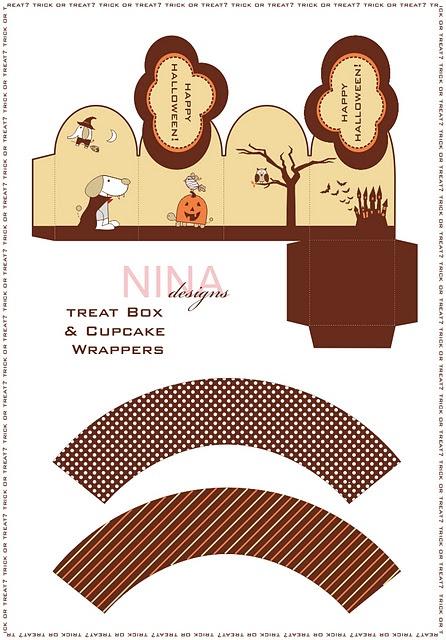 free printable halloween treat boxes templates