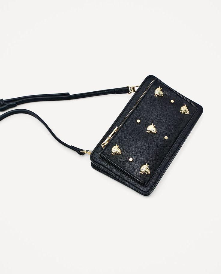 Image 1 of CROSSBODY BAG WITH METALLIC TRIMS from Zara
