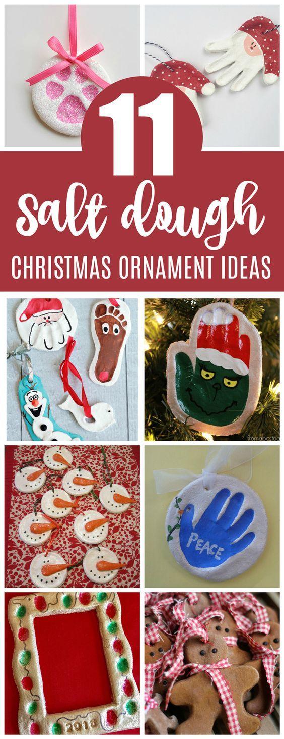 11 Christmas Salt Dough Keepsake Ornament Ideas on Pretty My Party