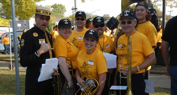 Dust off your instrument, polish up your Iowa Fight Song skills, and reunite with the Iowa Alumni Band. The Alumni Band marches in the Homecoming parade, plays in the pep band, and does much more.   http://www.iowalum.com/band/