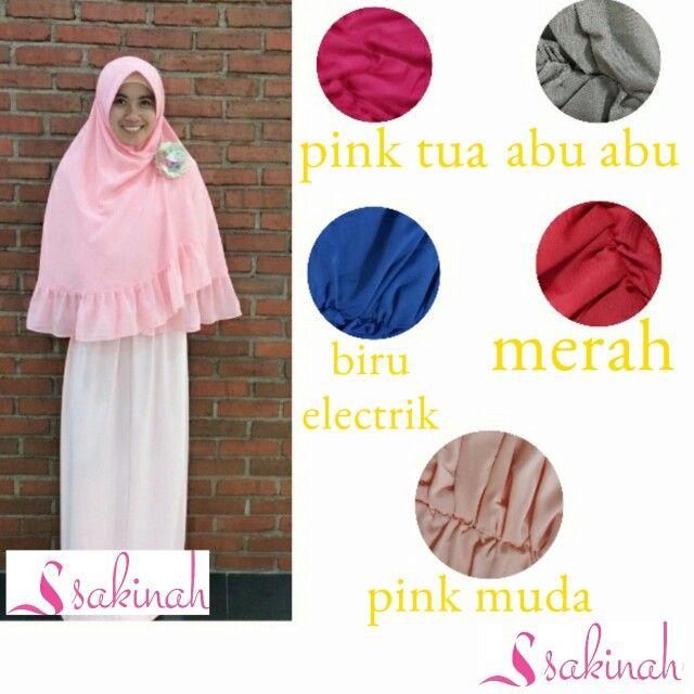 Sakinah Khimar basic Harga Rp.115.000 (belum termasuk ongkir)  bahan adem  tidak menerawang  tidak tipis  panjang standart setangan/di bawah pinggang  bahan cerruti  all size Warna yang tersedia : abu abu, biru electrik, hitam, merah, ungu, pink tua, pink muda. Kontak sakinah Bbm : 51F59250 Line id : sakinah.sakinah Kakao talk : sakinahsakinah wa : 08111919793 (no call) #hijabsyari #hijab #muslim #muslimah #hijabfashion #islamic