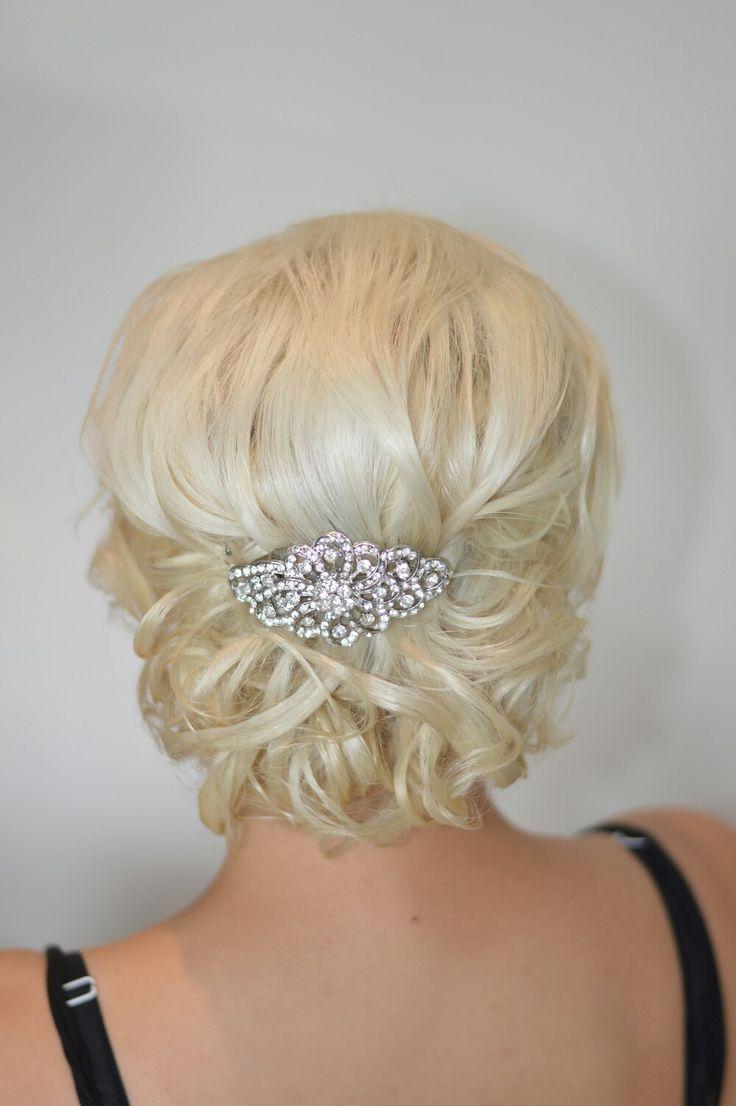 Bridal upstyle - Low messy Bun #thewyeteam Weddings@wyecosmetics.com.au