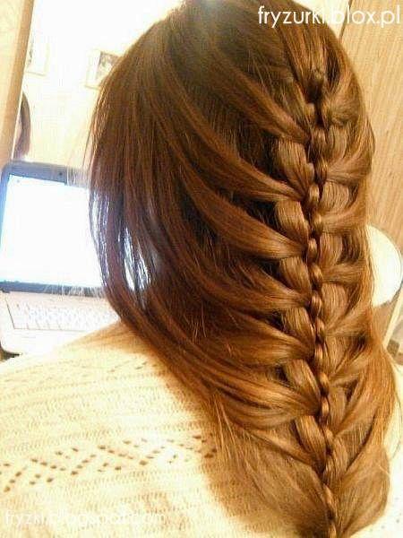 braid updo warkocz upięcie inspiracje krok po kroku modne włosy fryzury do szkoły 2013