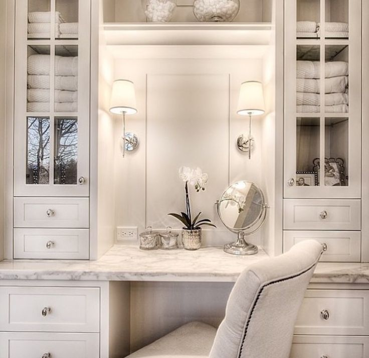 Best Makeup Vanity With Drawers Ideas On Pinterest White - Bathroom vanity with makeup counter for bathroom decor ideas