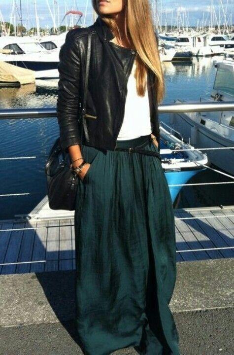 Fashion # skirt # jacket # style