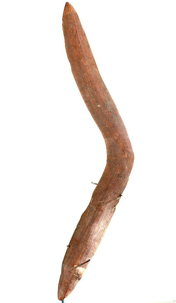 Very Old and Rare Hook shaped and Incised Australian Aboriginal BOOMERANG