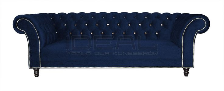 Sofy Stylowe - Sofa Chesterfield Kent - Ideal Meble Chesterfield Sofas, Armchairs, Sectionals, Sleepers | Leather, Fabric, Linen | blue, navy, granatowa, niebieska