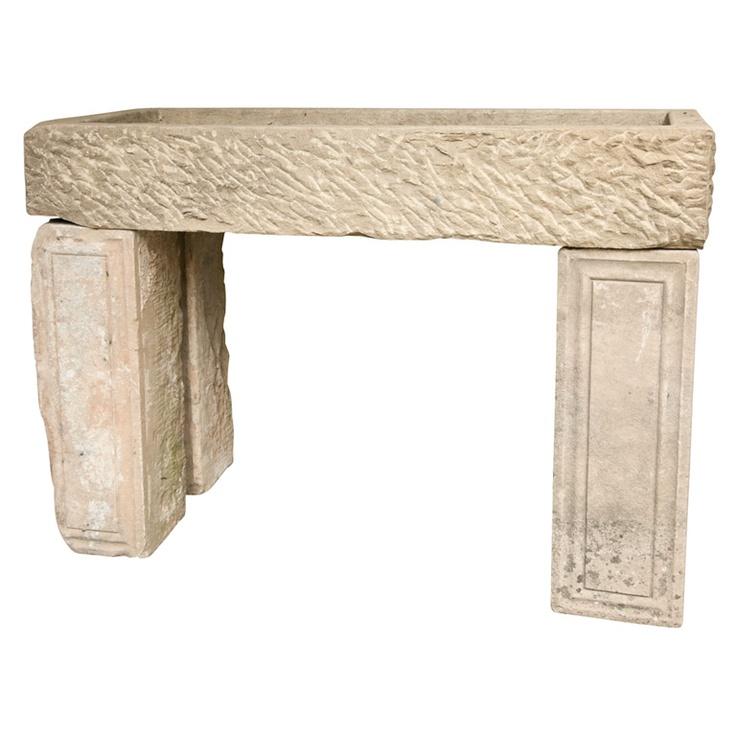 English Carved Stone Sink Console
