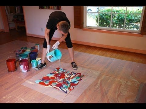 Artist Cassandra Tondro demonstrates her unique abstract painting technique using repurposed leftover house paint. Tondro's website, LIVING in the WOW!: http://tondro.com