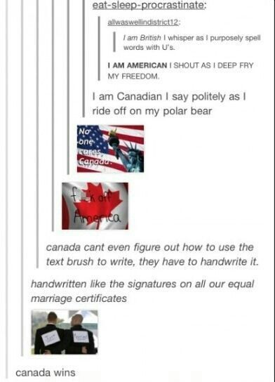 You win this round Canada