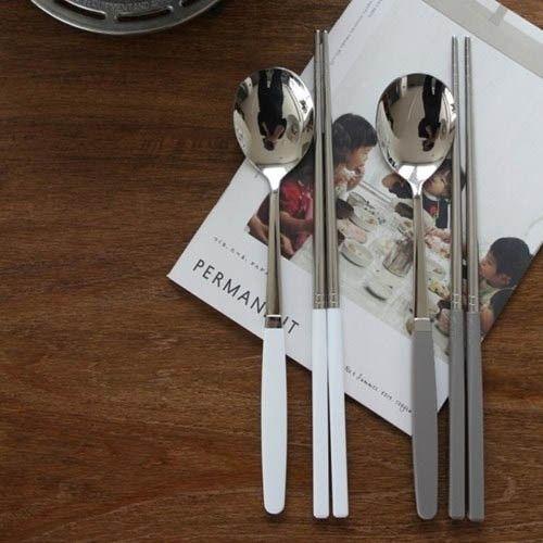 [韓国雑貨]どこか懐かしい雰囲気の  お箸&スプーン2膳セット (10color)   [韓国食器][チョッカラ][スッカラ] 韓国音楽専門ソウルライフレコード - Yahoo!ショッピング - Tポイントが貯まる!使える!ネット通販