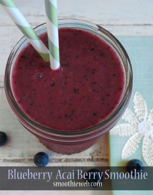Blueberry and Acai Berry Smoothie with Mango Juice