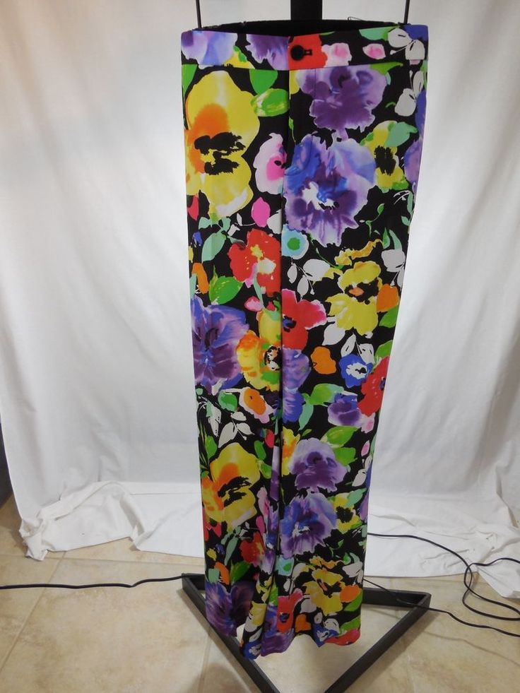 WOMANS WASHABLE FLORAL PRINT PANTS RALPH LAUREN PLUS 16W $120 #RalphLauren #DressPants