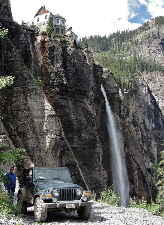 Black Bear Pass, Telluride, CO | Bridal Veil Falls, the TALLEST falls in Colorado (over 400 feet).