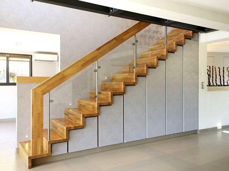 escalier droit lin a avec rangements sous escalier garde corps trop massif d coration. Black Bedroom Furniture Sets. Home Design Ideas