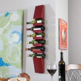 MILANO WALL WINE RACK - RED