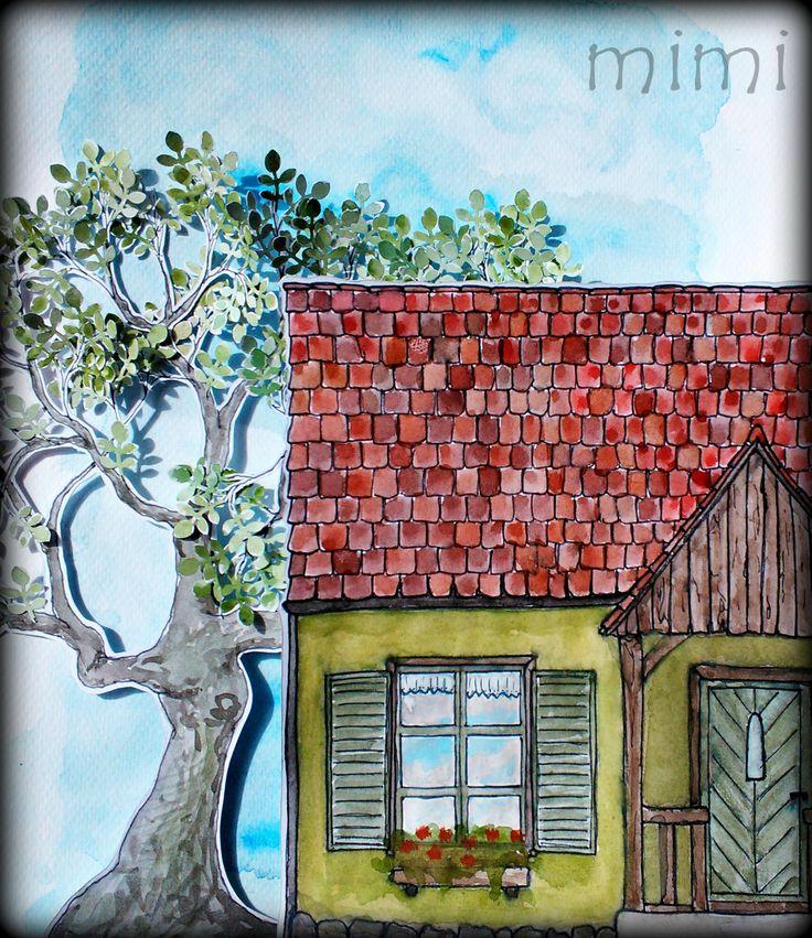 dom i drzewo