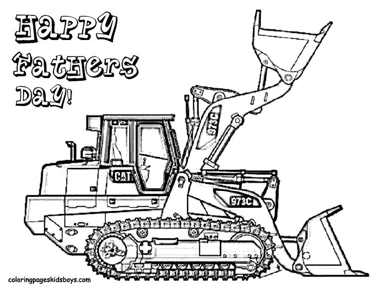 excavator coloring pages fathers day coloring pages coloring pages for kids boys free