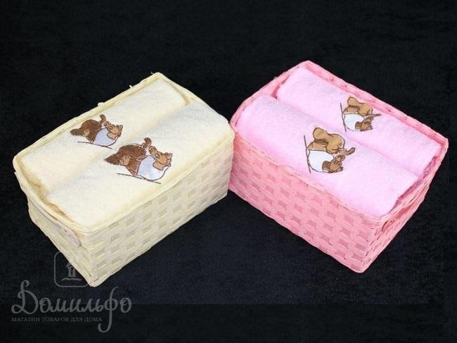 Набор махровых полотенец ARYA ELEPHANT кремовый 40х60 (1шт) и 50х100 (1шт) от Arya (Турция) - купить по низкой цене в интернет магазине Домильфо