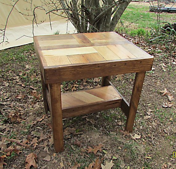 17 Best Ideas About Wood End Tables On Pinterest Rustic End Tables End Tables And Bedroom End
