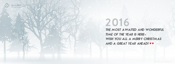 Snow theme with a quote - New Year Facebook Cover Photo 2016 #newyear2016 #snow #holidays #christmas