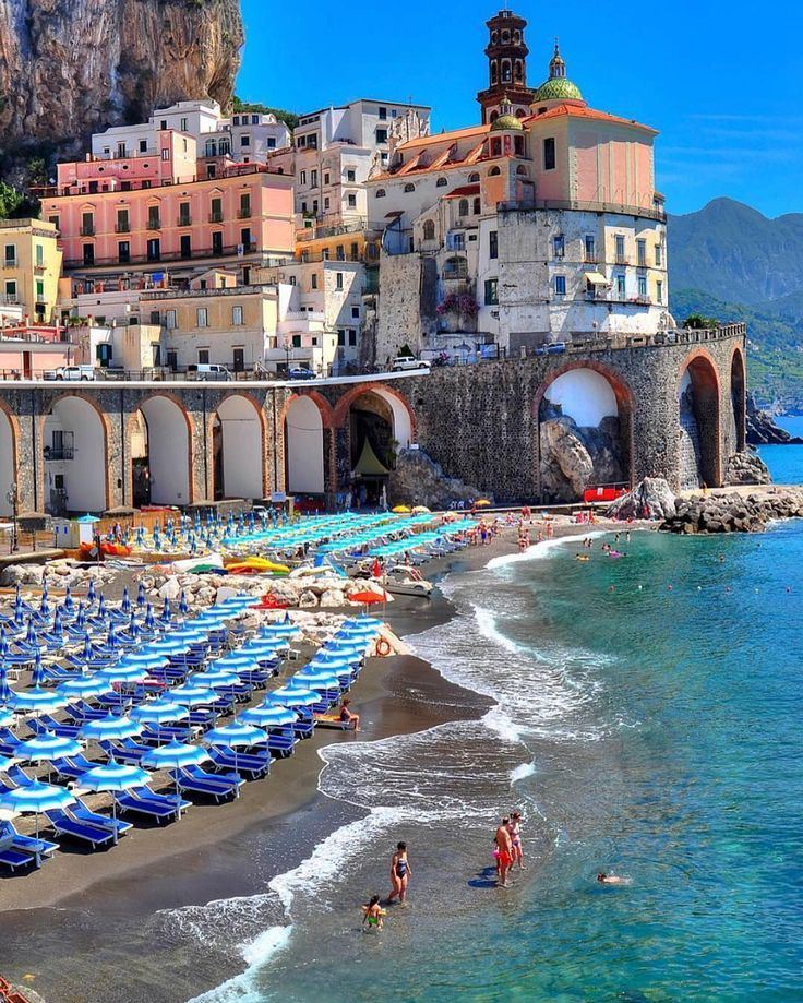 Amalfi, Italy - We dream in colors borrowed from the sea  Picture by @genarispo