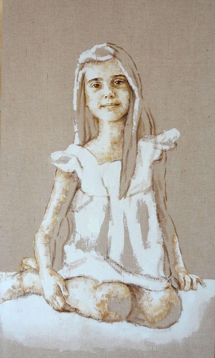 niña retrato 80 x 60 - M. Isabel Barros Alcalde