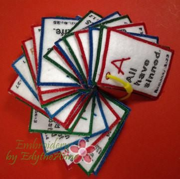 CHILDREN'S ABC Bible Verse Cards. All 3 sizes included.   - INSTANT DOWNLOAD - Embroidery by EdytheAnne - 1