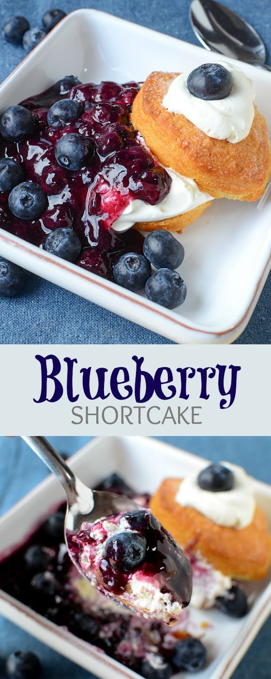 Blueberry Shortcake recipe - easy and delicious. Long summer days call for this cool and refreshing dessert, using fresh BC Blueberries