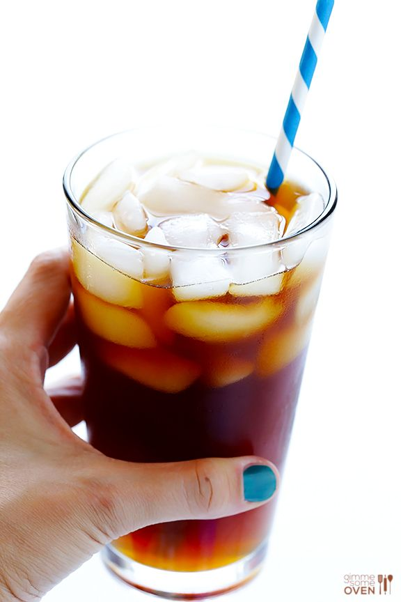 Iced coffee with coconut water