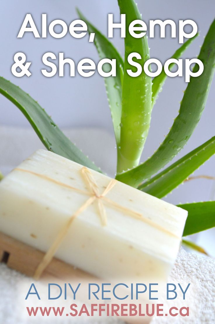 Aloe, Hemp & Shea Cold Process Soap Recipe | Saffire Blue Inc.