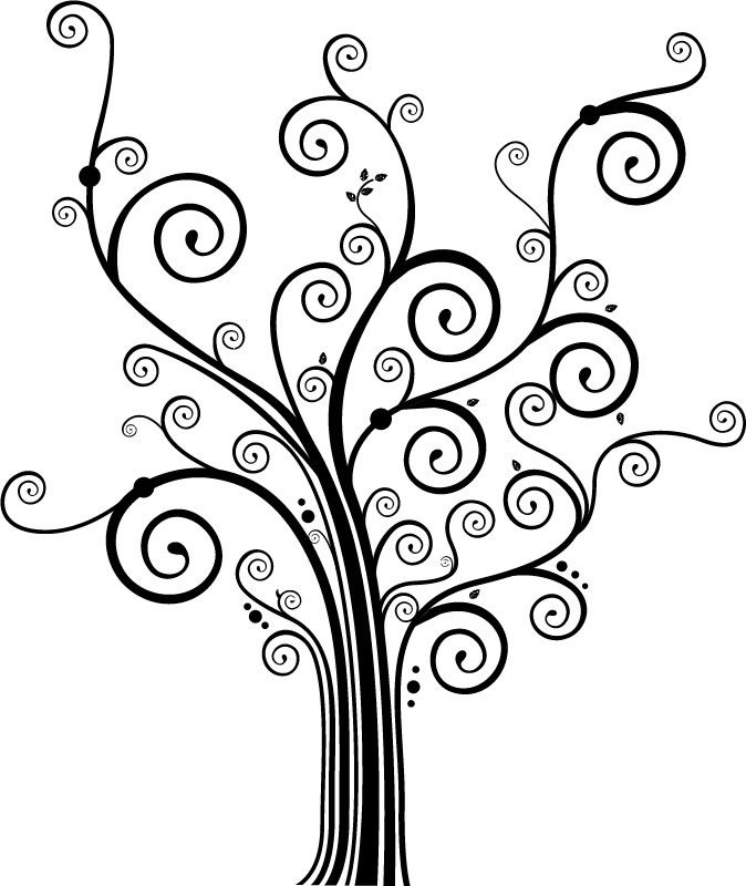 Swirly Decorative Tree
