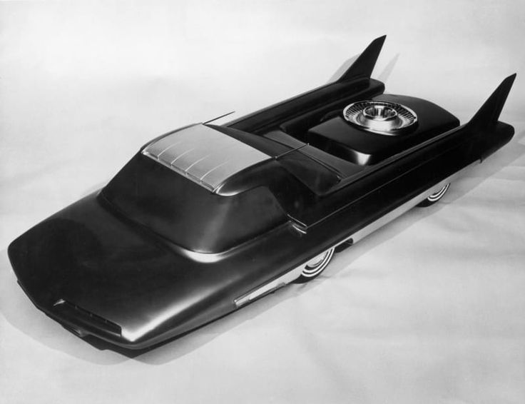 A model of the Nucleon, an atomic car conceived by Ford but never built, is displayed in 1958.