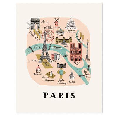 Rifle Paper Co Print - Paris   Pony Lane
