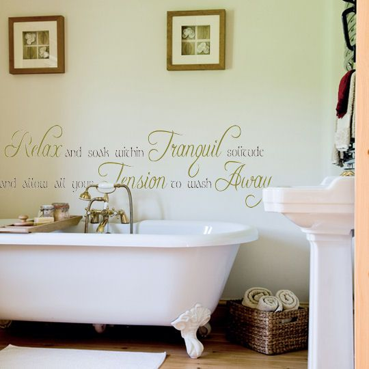 Beautiful Bathroom Quotes 27 best bathroom decor images on pinterest | wall decals, bathroom