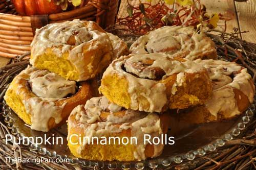 Pumpkin Cinnamon Rolls Recipe | TheBakingPan.com