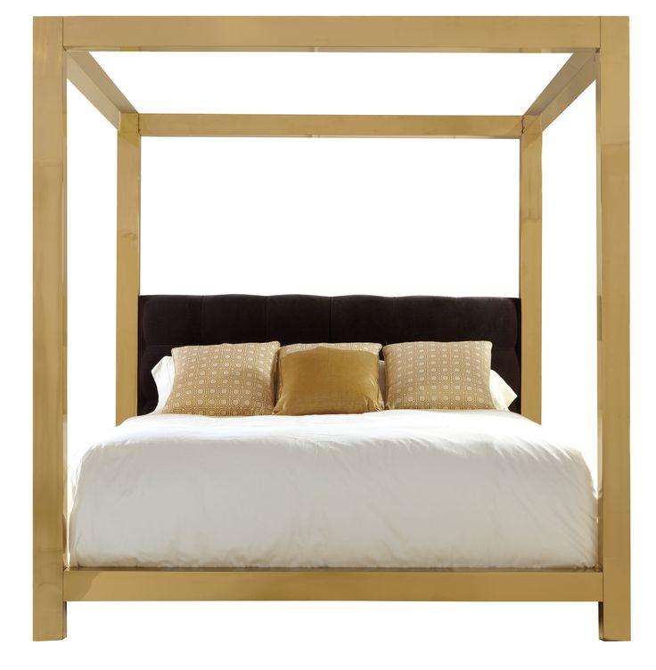 Metal Canopy Bed | Bernhardt #gold #bed