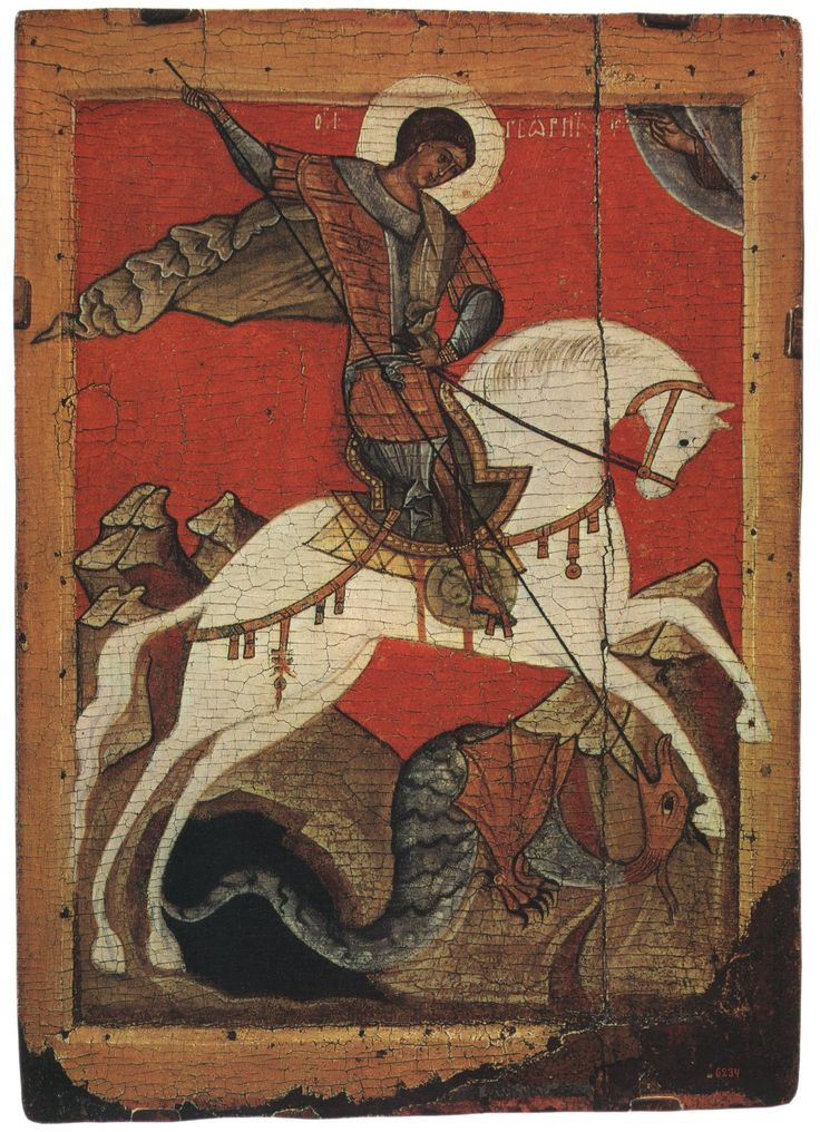 Saint George Icon, a  canaanite soldier from south of @lebanon served in roman army and was a lawyer of a district in jerusalem, he had been killed by the caesar after he refused to convert from christianity to paganism.