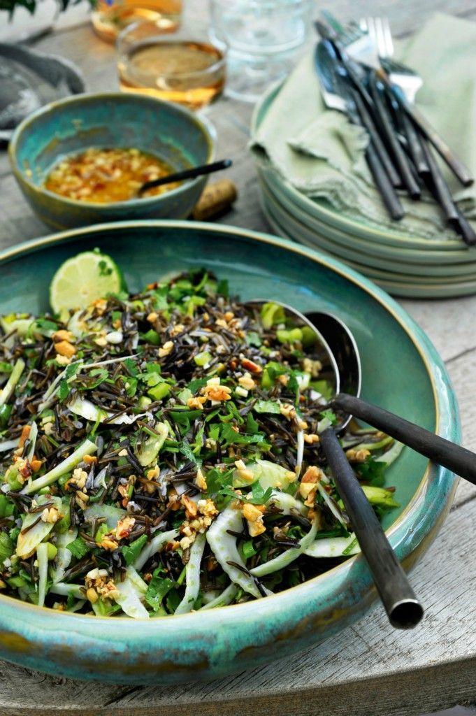 Recept: Salade van wilde rijst, venkel en kruiden